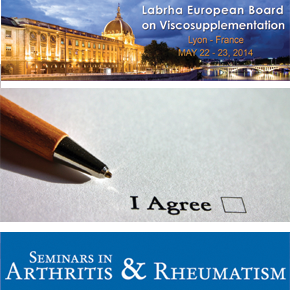 1st publication for the European Board on Viscosupplementation created by LABRHA
