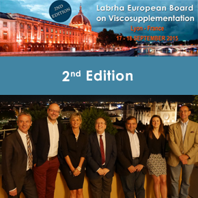 LABRHA organized the 2nd Edition of the European Board on Viscosupplementation last september 2015